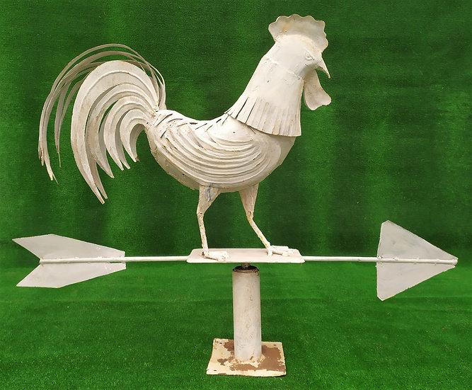 Grande gallo segnavento in ferro battuto