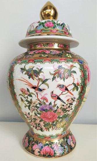 Potiche in porcellana Canton - h 35 cm - Cina XX sec.