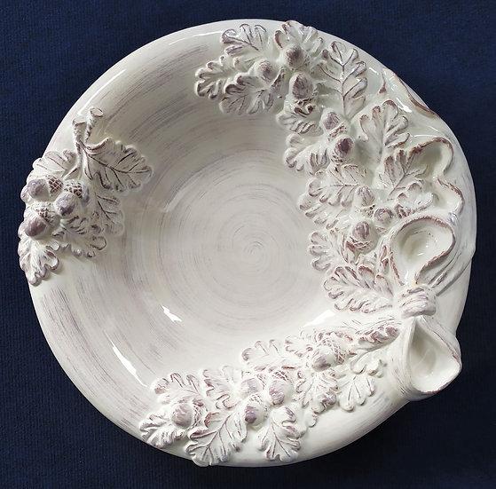 Grande centrotavola in ceramica smaltata - Bassano - Ø cm 45