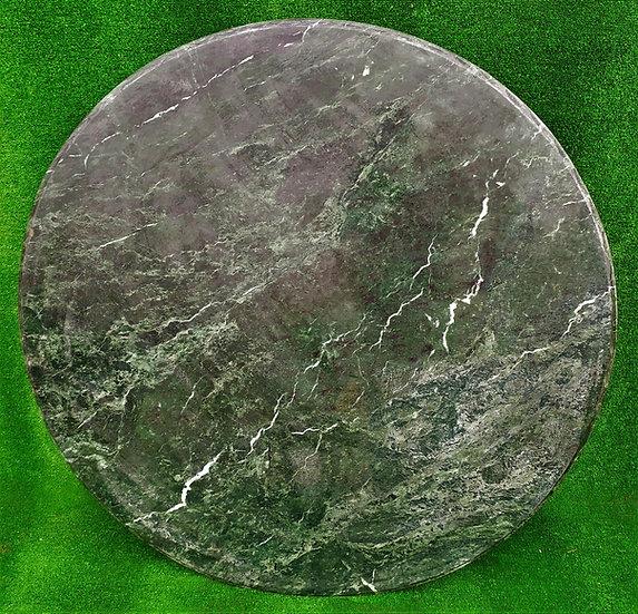 Top in marmo verde Alpi cm Ø 140 - spess. 15mm