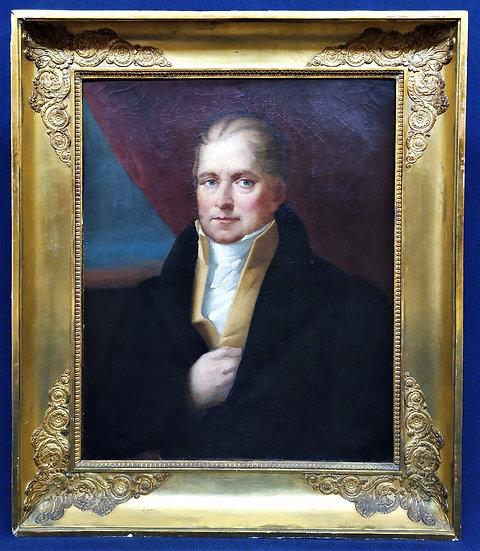 """Grande dipinto olio su tela """"Ritratto"""" - Inghilterra inizio XIX sec."""