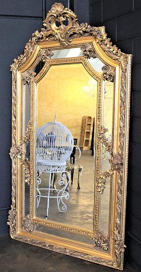 Grande specchiera in legno dorato - Italia XX sec.