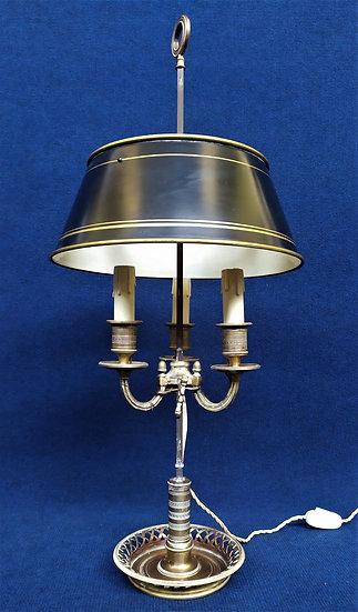Lampada Bouillotte in ottone - cm 71 h - Francia XIX sec.