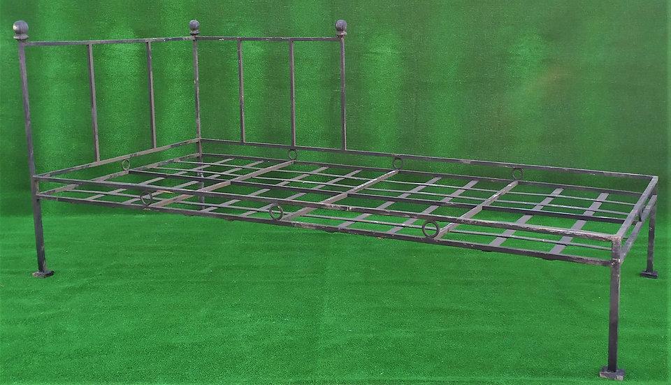 Grande lettino minimal in ferro battuto - cm 105 x 200