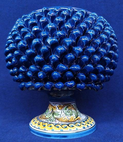 Vaso blu e giallo cm 30 h - ceramica di Caltagirone