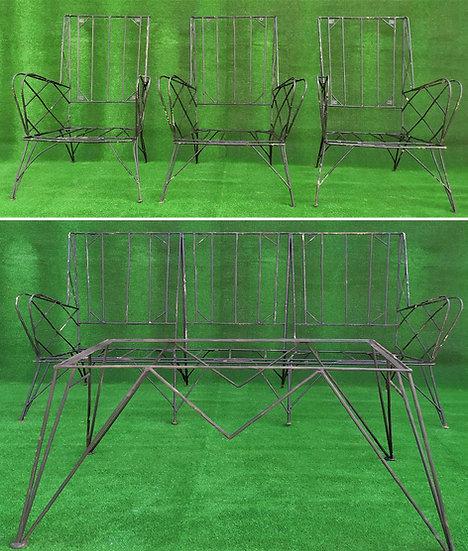 Salotto in ferro battuto design anni '70