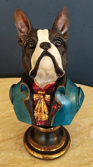 Busto bulldog francese aristocratico cm 28 H
