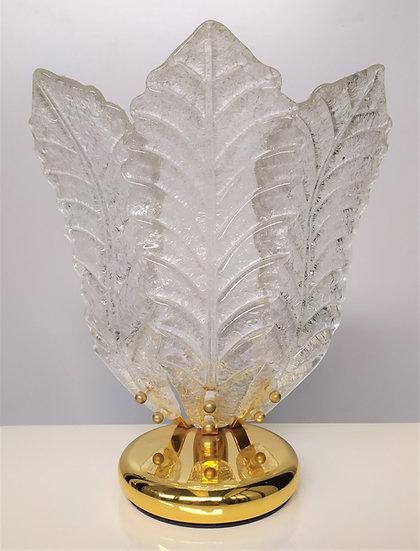Lampada da tavolo trifogliata in vetro di Murano - anni '80