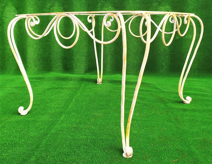 Base quadrata per tavolo in ferro battuto cm 112 x 112