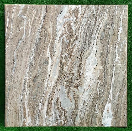 Top in marmo beige/bianco striato cm 100x100 - spess. 15mm