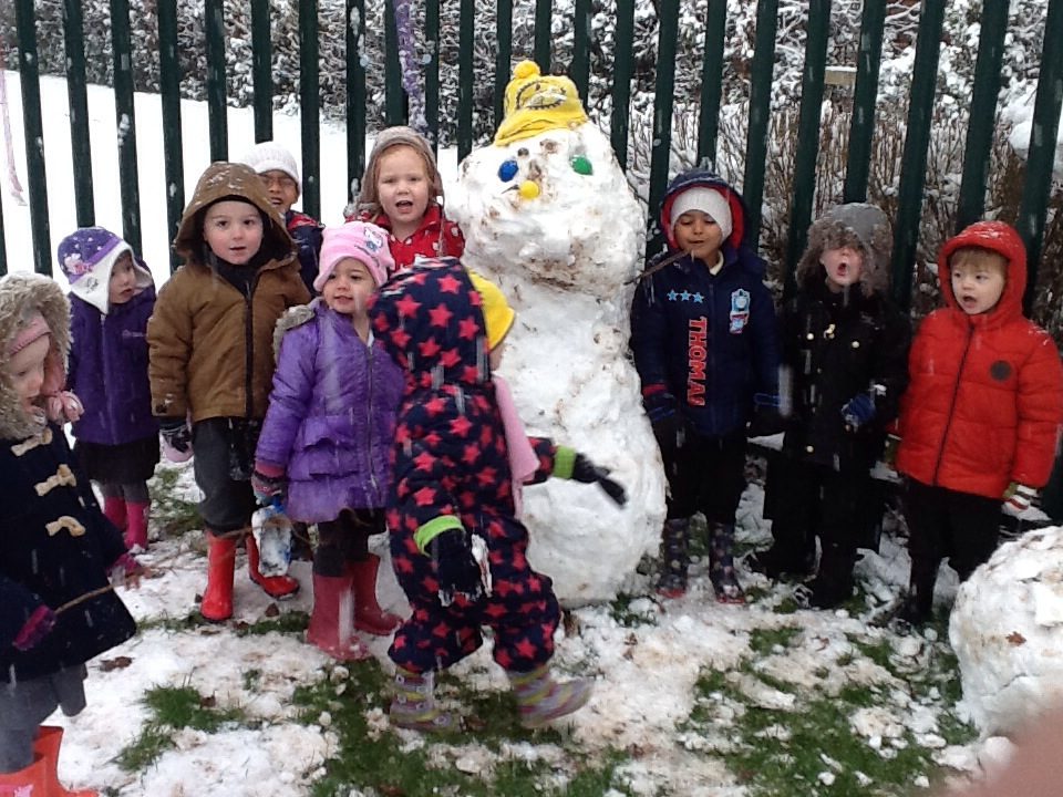 snowy days in Nursery