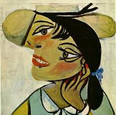 Pablo Picasso Poitrait of woman in d'hermine