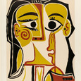 Pablo Picasso Stylized Portrait od Jacquelin