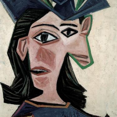 Pablo Picasso Buste de femme au chapeau (Dor
