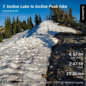 First Hike to Incline Peak This Year