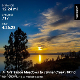 Tahoe Meadows to Tunnel Creek via TRT: Better have two cars