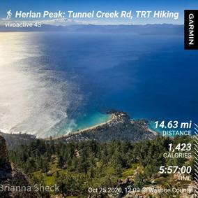 Longest Hike We've Ever Done: Herlan Peak: 14.63 mi