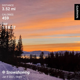Showstopper Sunset Snowshoe Hike