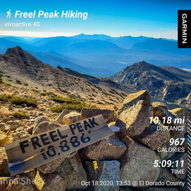 Fall Hike to Freel Peak: 10,886'