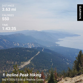 Friday Solo Hike: Incline Peak in 51:19
