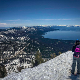 Spring Snowshoe Hike to Incline Peak