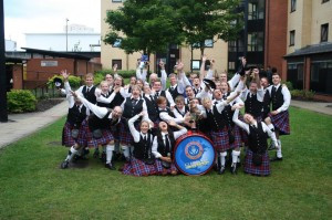 Glengarry Pipe Band Celebrates their 6th place finish at the World Pipe Band Championships