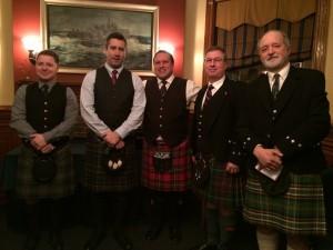 L-R:  Branch President Chris Dodson, Matt MacIsaac, James van de Ven, Randy MacIntosh and Jeff Stellick