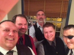 Executive Team Selfie! l-r:  James van de Ven, Jim Bush, Neil Bell, Chris Dodson, and Ron J. Graham.  Missing:  Susan Lunn.