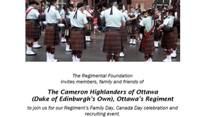 Celebrate Canada Day with the Cameron Highlanders