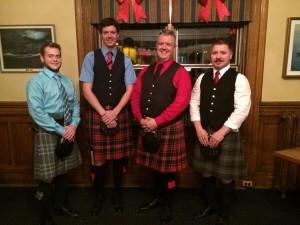 L-R: Brendan Kelly, Iain Bell, Chris Bell and Branch President Chris Dodson