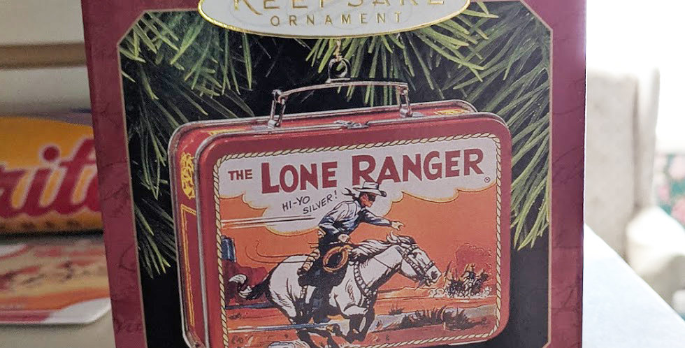 Lone Ranger mini lunchbox ornament Hallmark 1997