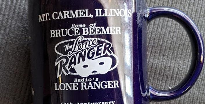 Oops Mug Navy Blue 60th Anniversary Home of Brace Beemer