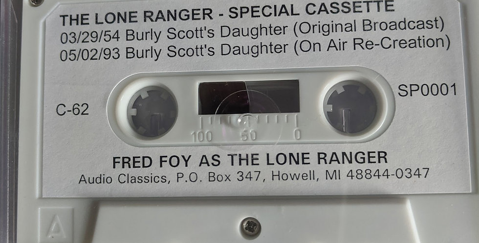 Casette  Tape:  Burley Scott's Daughter--2 versions