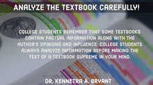 College Success Tip # 64 - Analyze The Textbook Carefully.