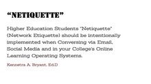 "College Success Tip #66 - ""NETIQUETTE"""