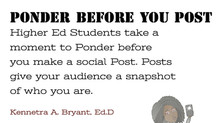 College Success Tip #73 - Ponder Before You Post