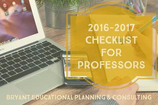2016 - 2017 Professor Checklist