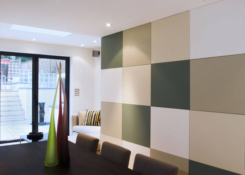 coloured tiled wall