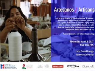 """""""Artesanos / Artisans"""" en Washington, DC"""