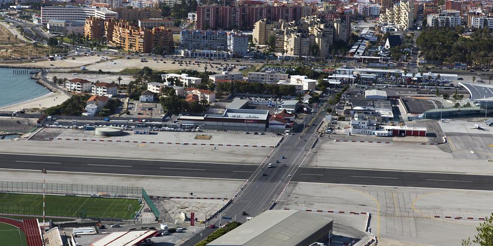 Gibraltar Airport seen from Rock of Gibraltar