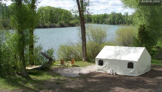 Teton Riverside Wall Tent, IDAHO, UNITED STATES WYOMING, UNITED STATES