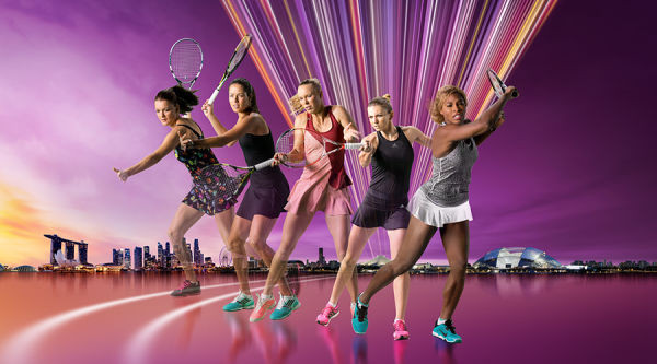 The players shown are for illustrative purposes only. Qualification and participation subject to WTA rules. Photos and images courtesy of WTA.