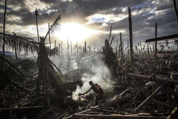 On November 19, 2013 in Leyte, Philippines. Typhoon Haiyan which ripped through Philippines over a week ago has been described as on of the most powerful typhoons ever to hit land, leaving thousands dead and hundreds of thousands homeless.