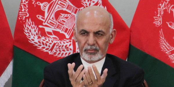 Afghan president-elect Ashraf Ghani Ahmadzai attends a ceremony in Kabul