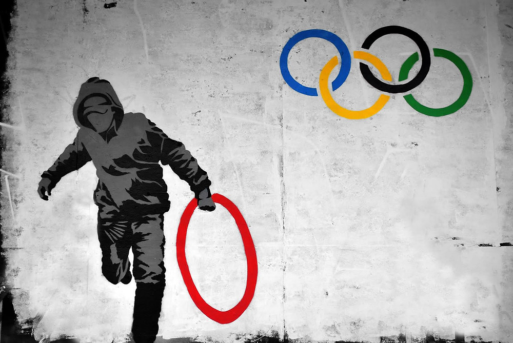 banksy-olympic-rings