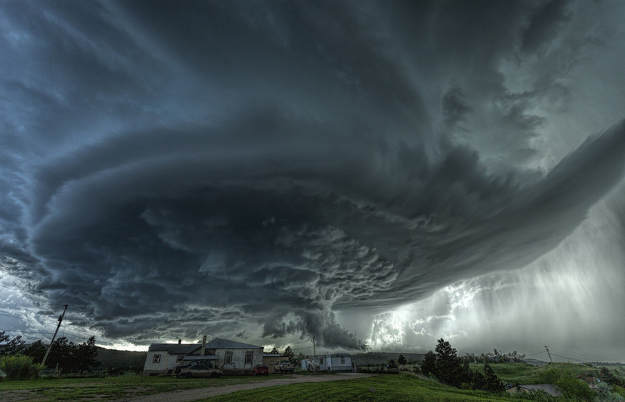 Amazing supercell produces over the town of Blackhawk, South Dakota, back on June 1, 2015. Flash flooding would occur near Rapid City.  © James Smart / National Geographic Travel Photographer of the Year Contest