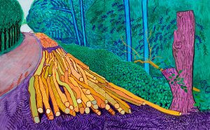 more-felled-trees-on-woldgate-2008-oil-on-canvas-two-panels-copyright-david-hockney