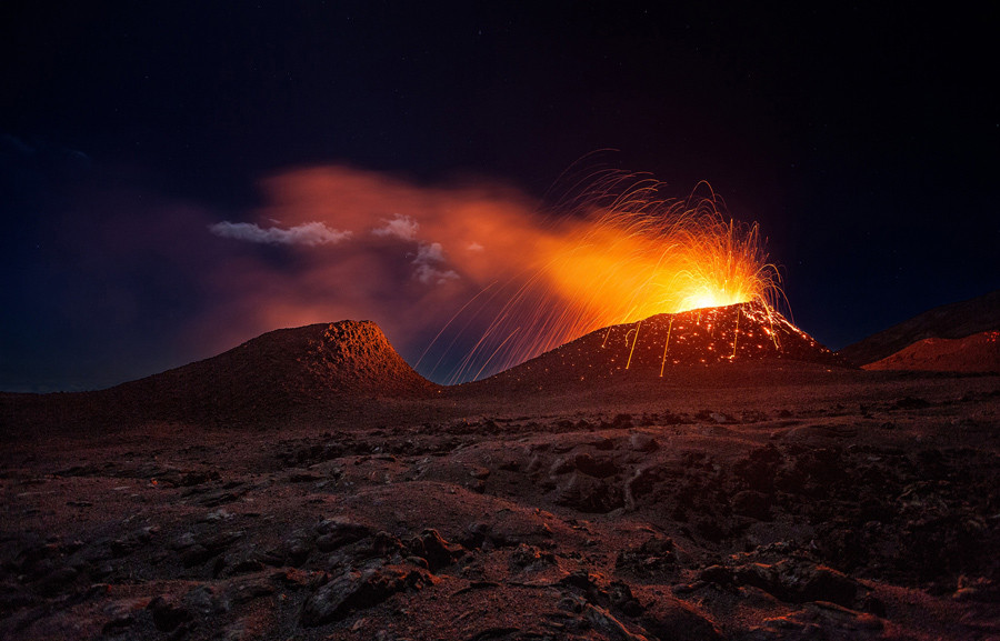 The latest eruption of La Fournaise Volcano. Réunion Island.  © Gaby Barathieu / National Geographic Travel Photographer of the Year Contest
