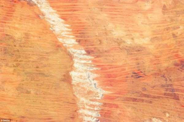 This image sand dunes in Australia's Great Sandy Desert was taken March 25 by an astronaut on the International Space Station