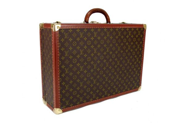 LOUIS-VUITTON-Vintage-Monogram-Bisten-60-Suitcase-Trunk-portero